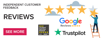Independent Customer Feedback via TrustPilot, Feefo and Google Reviews