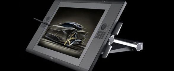 Front view of the Wacom Cintiq 12WX with pen