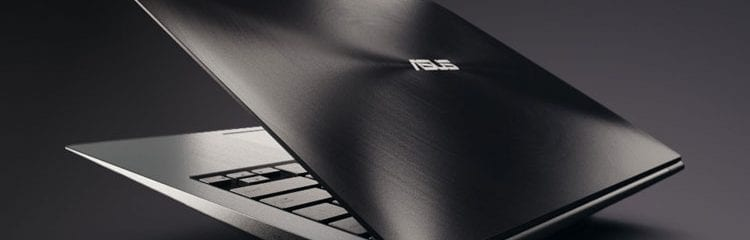 Rear view of the ASUS UltraBook