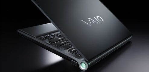 Rear view of the Sony Vaio Z21