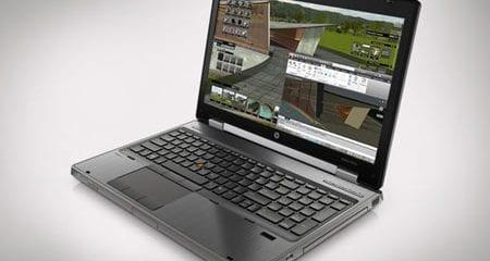 Open front view of the HP EliteBook 8470W