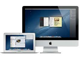 MacBook Air and iMac side by side