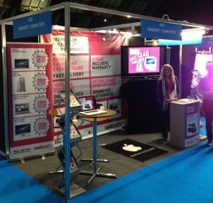 HardSoft employees at the BVE Show 2012 showing the benefits of leasing