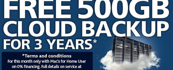 FREE 500GB Cloud BackUp for 3 Years*