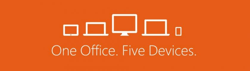 One Office And Five Devices