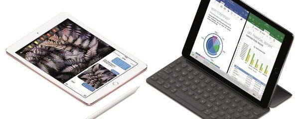 iPad Pro with Pencil and iPad Pro with Keyboard