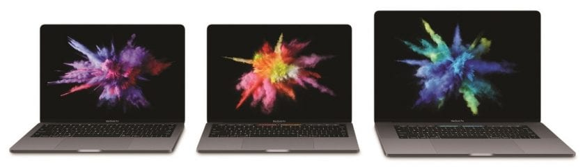 "Two 13"" MacBook Pros with MacBook 15"""