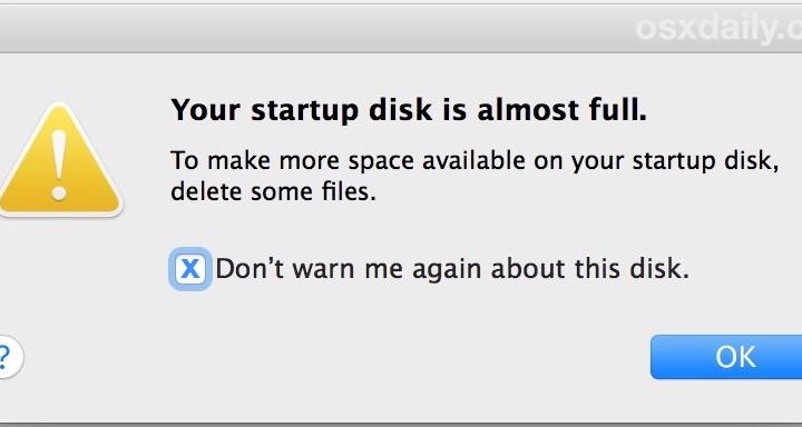 Disk almost full Mac