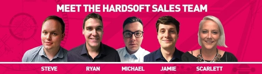 Meet the Team headshots (From left to right): Steve, Ryan, Michael, Jamie and Scarlett
