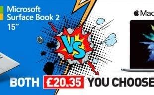 "SurfaceBook 2 15"" vs MacBook Pro 15"" Both £20.35 You Choose! *Price per Week. Ex VAT Business Users Only*"