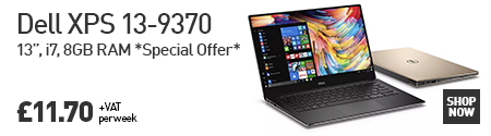 "The Dell XPS 13-9370 13"", i7, 8GB RAM *Special Offer* for £11.70"