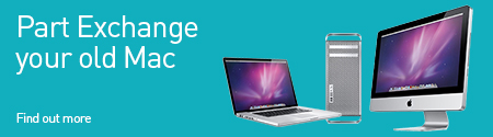 Our Mac Part Exchange program with find out more with Apple desktops & Laptops inset
