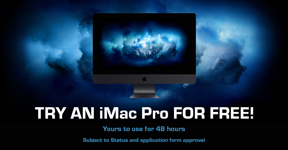 Try an iMac Pro for Free from HardSoft