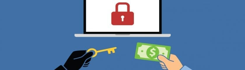 Animated Laptop and a pair of hands one holding the key and the other with money