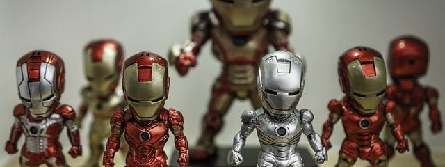 Collection of Ironman Statues