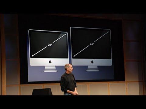 steve jobs introduced the 'aliminium' iMac 2007