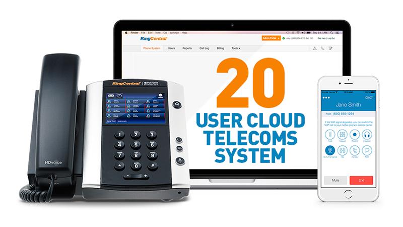 20 User Cloud Telecoms System