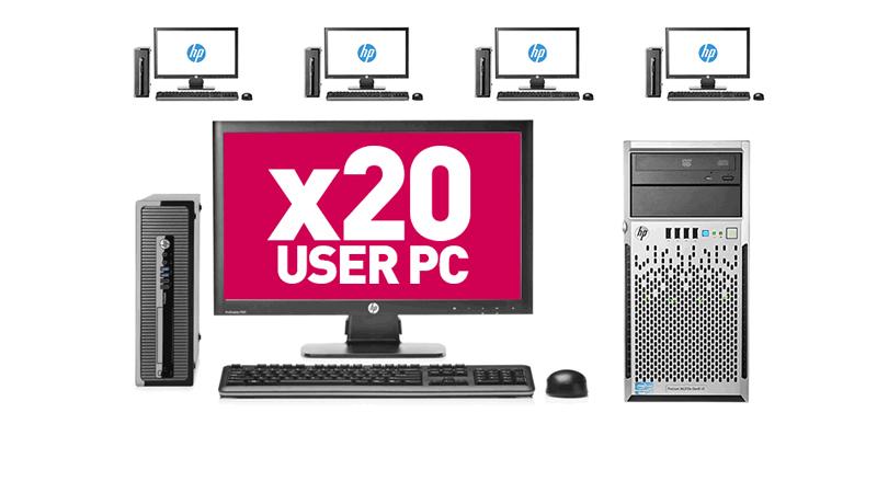 20 User PC Desktop Network