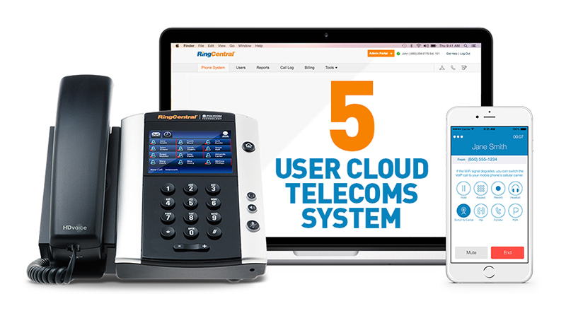 5 User Cloud Telecoms System