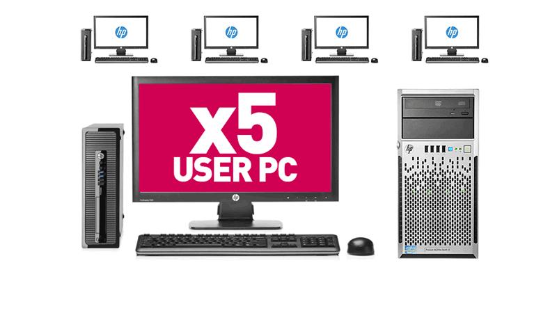 5 User PC Desktop Network