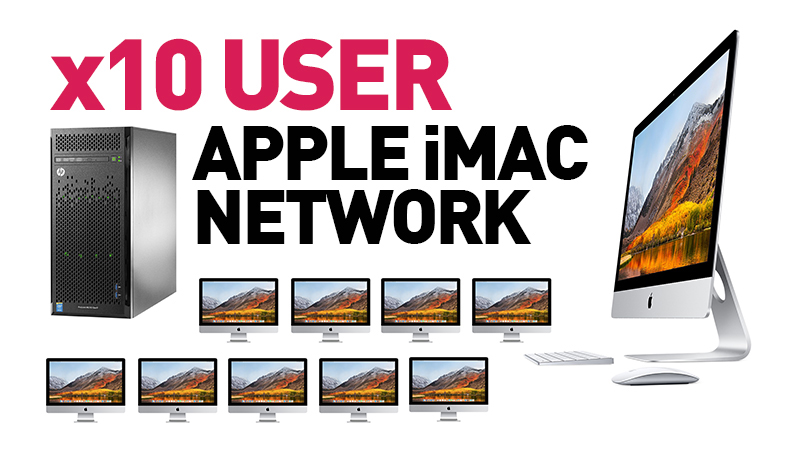 10 User Apple iMac Network with Hp Proliant Server
