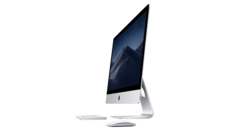 """Apple iMac 21.5"""" Keyboard And Mouse, Side View."""