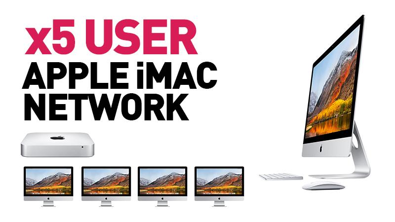 5 user Apple iMac Network with Mac Mini Server