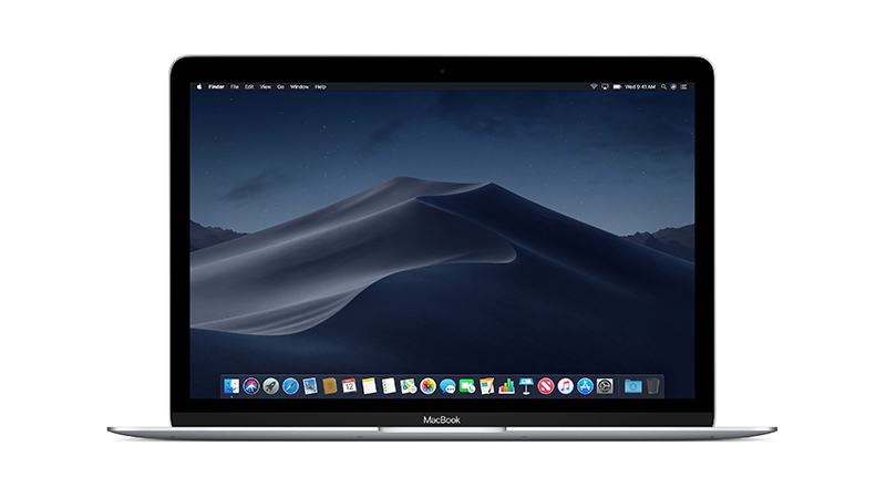 """Apple MacBook 12"""" Front View in Silver"""