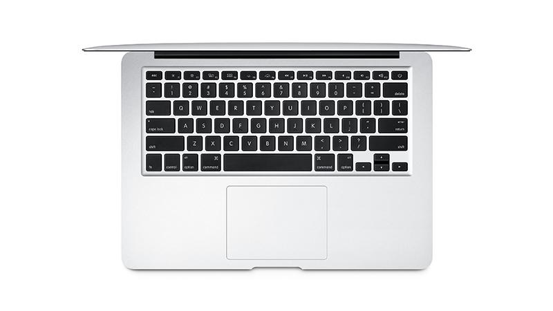 """Apple MacBook Air 13"""" Top Down View of Keyboard"""