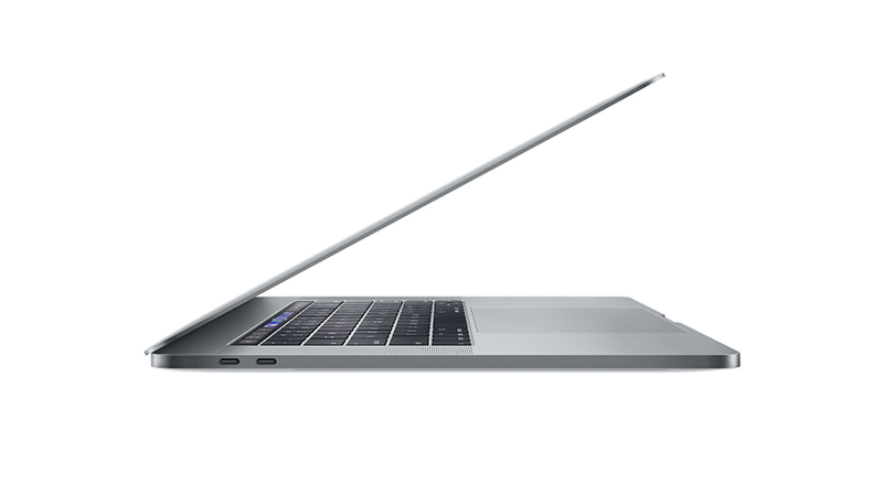 "MacBook Pro 15"" with Touch Bar SIDE-VIEW"
