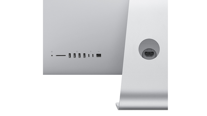 """Apple iMac 21.5"""" Rear View, showing ports"""