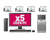 5 User PC Desktop Network