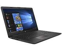Right-Facing Hp 250 G6 PC Laptop, open, with Windows 10