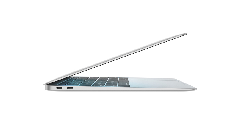 Side profile of the New MacBook Air Thinner, Faster & more Powerful than Ever.