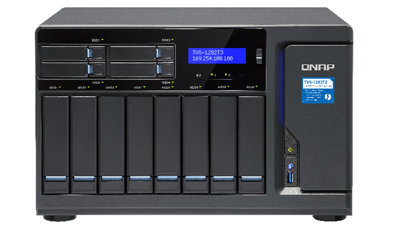 QNAP TVS-1282T3 Thunderbolt 3 Triple NAS Network attached storage device