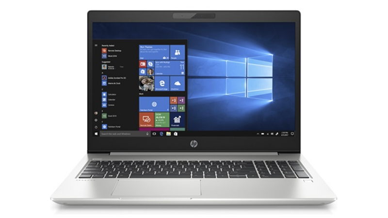 Front-Facing, HP ProBook 450 G7 PC Laptop, open