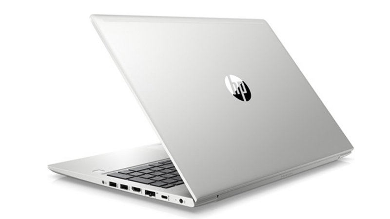 Rear-Facing HP ProBook 450 G7 PC Laptop, open