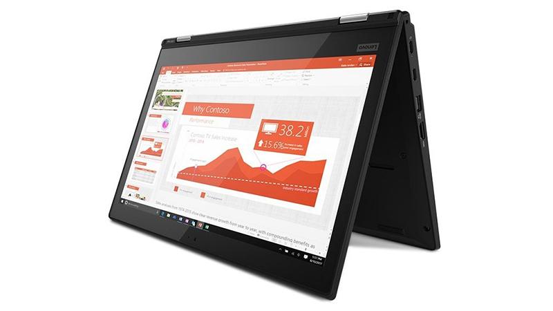 Lenovo ThinkPad L380 Yoga in presentation mode