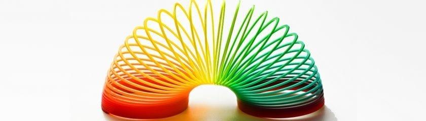 Rainbow coloured slinky