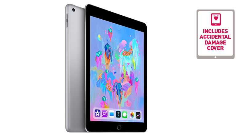 Apple iPad front and back view