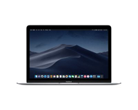 "Apple MacBook 12"" Front View in Silver"