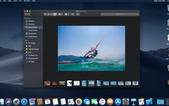 Gallery View on Apple's Finder