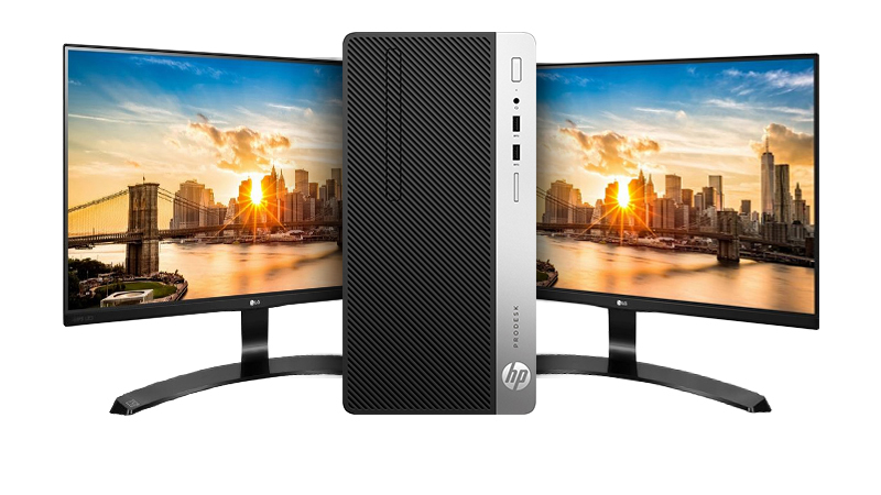The HP 400 i7 with Dual Display Bundle