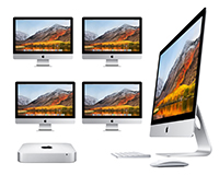 Apple iMac networks with your choice of server.