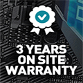Click here to find out more about our 3-year warranty with on-site installation & care.