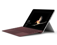 The Microsoft Surface Go with Burgundy Type Cover