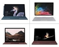 The Microsoft Surface family range of PC's