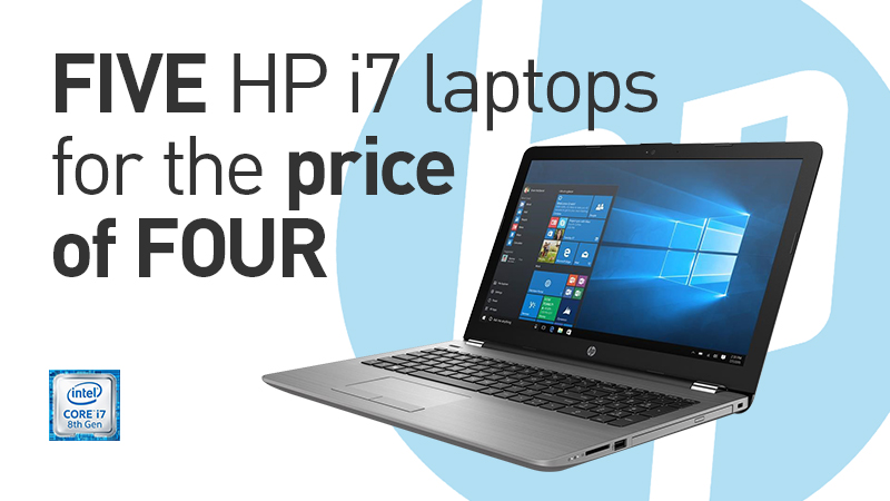 HP 250 i7 Laptops - Lease 5 For The Price of 4 Offer