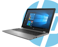 Hp 250 i7 Laptop & HP logo (Feature Image)
