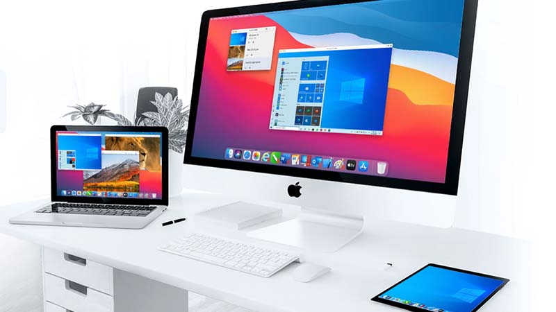 Parallels on all apple devices.